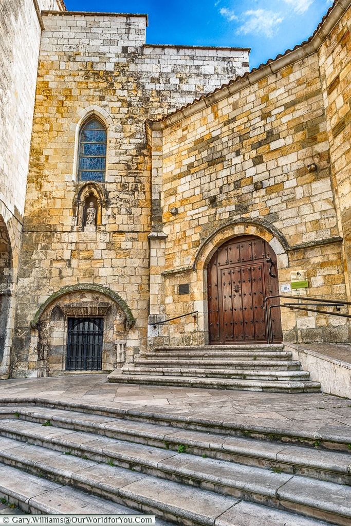 A door to the Cathedral, Santander, Spain