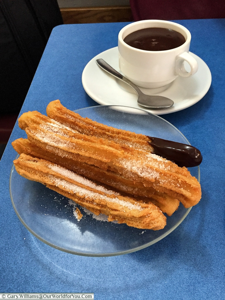 Churros con chocolate, Santander, Spain
