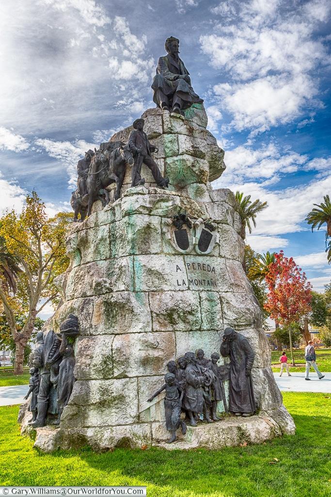 Monument to José María de Pereda, Santander, Spain