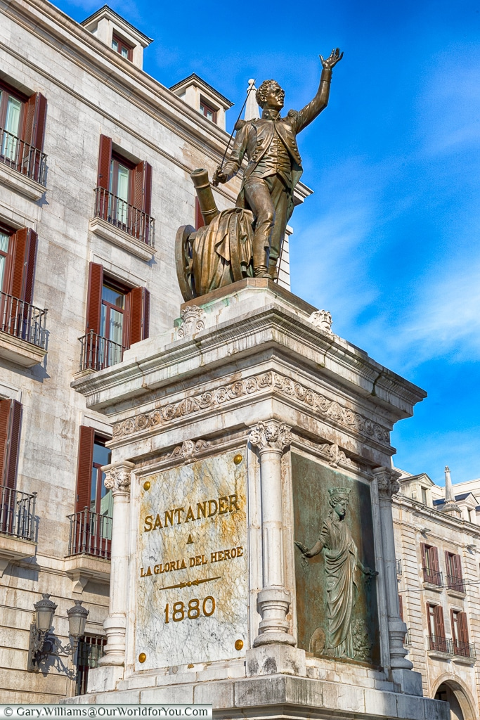Monument to Pedro Velarde, Santander, Spain