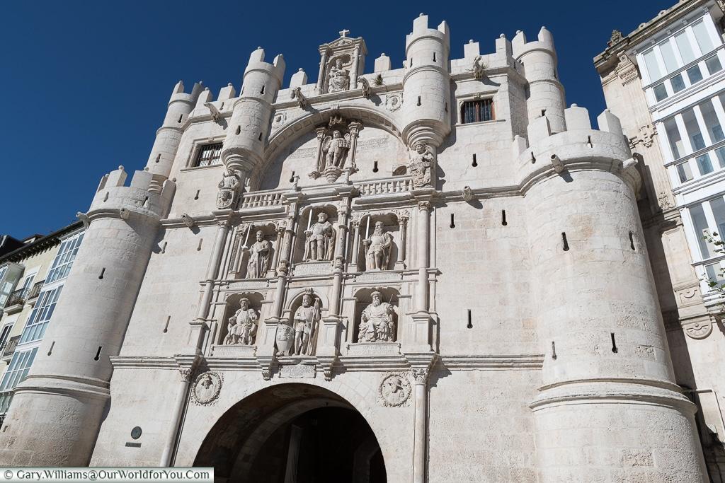 The Arco de Santa María - up close, Burgos, Spain