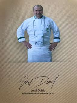 Head Chef of the Prominent Restaurant, Josef Dufek