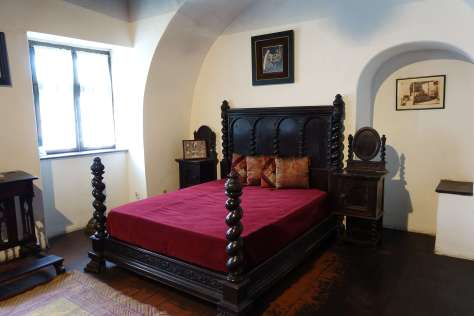 A bedroom in Bran Castle