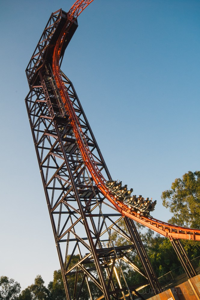 Nothing says premature white knuckling like a vertical lift hill.