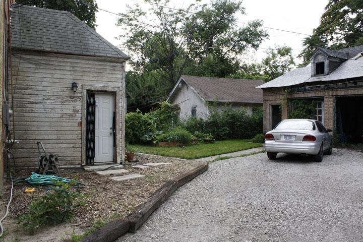 back yard and driveway