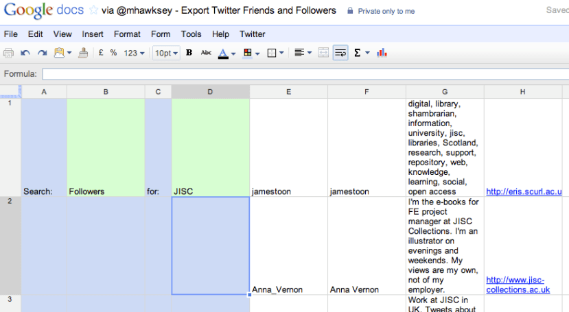 Cobbling Together a Searchable Twitter Friends/Followers Contact ...