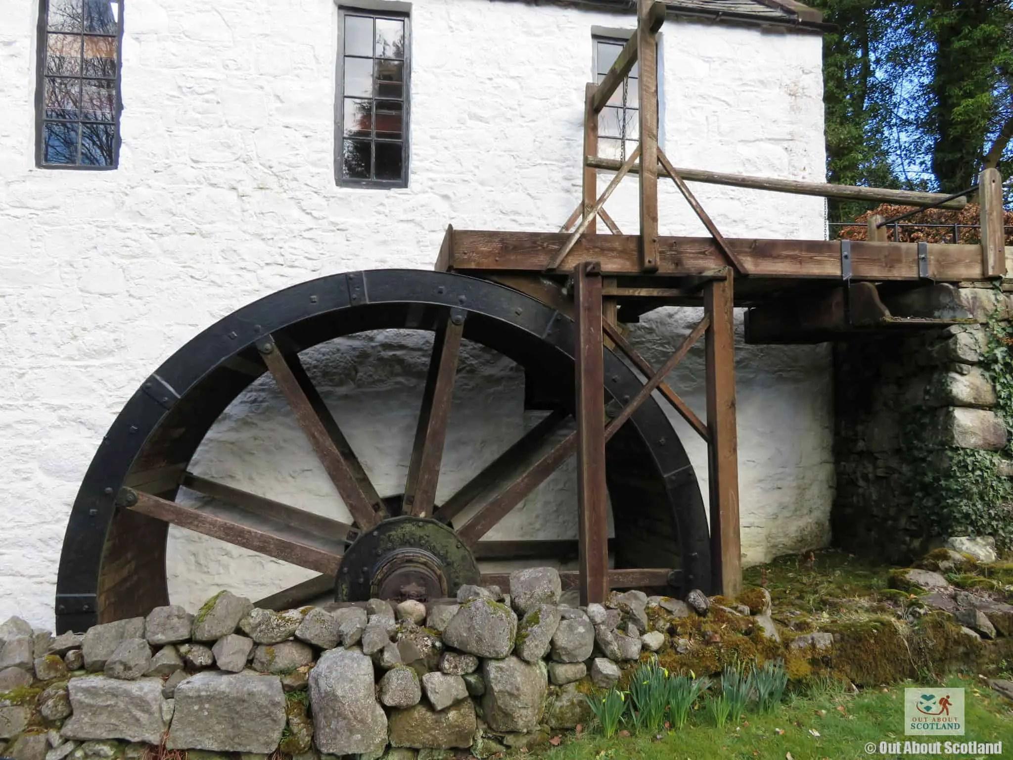 New Abbey Corn Mill water wheel