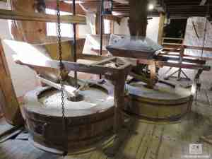 New Abbey Corn Mill grinding stones