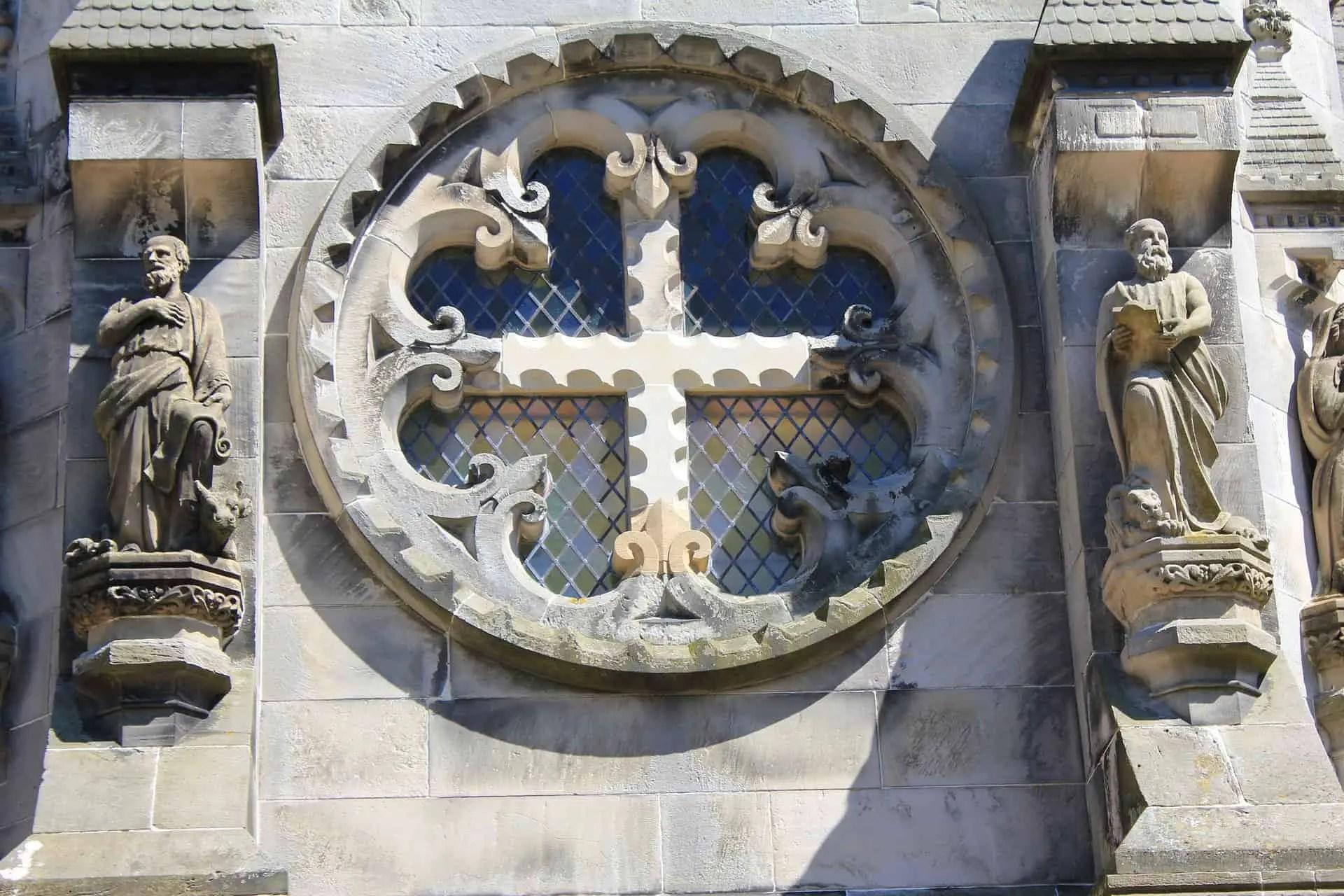 Rosslyn Chapel window carvings