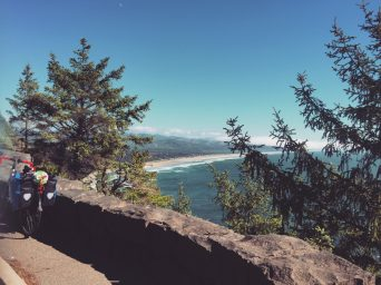 At the top of Neahkahnie mountain