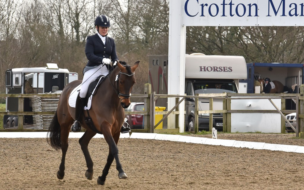 Out and About Dressage crosses the border into Hampshire
