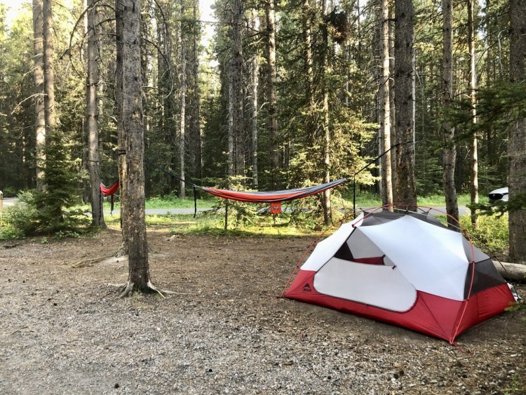 Tent camping at Boulton Creek Campground