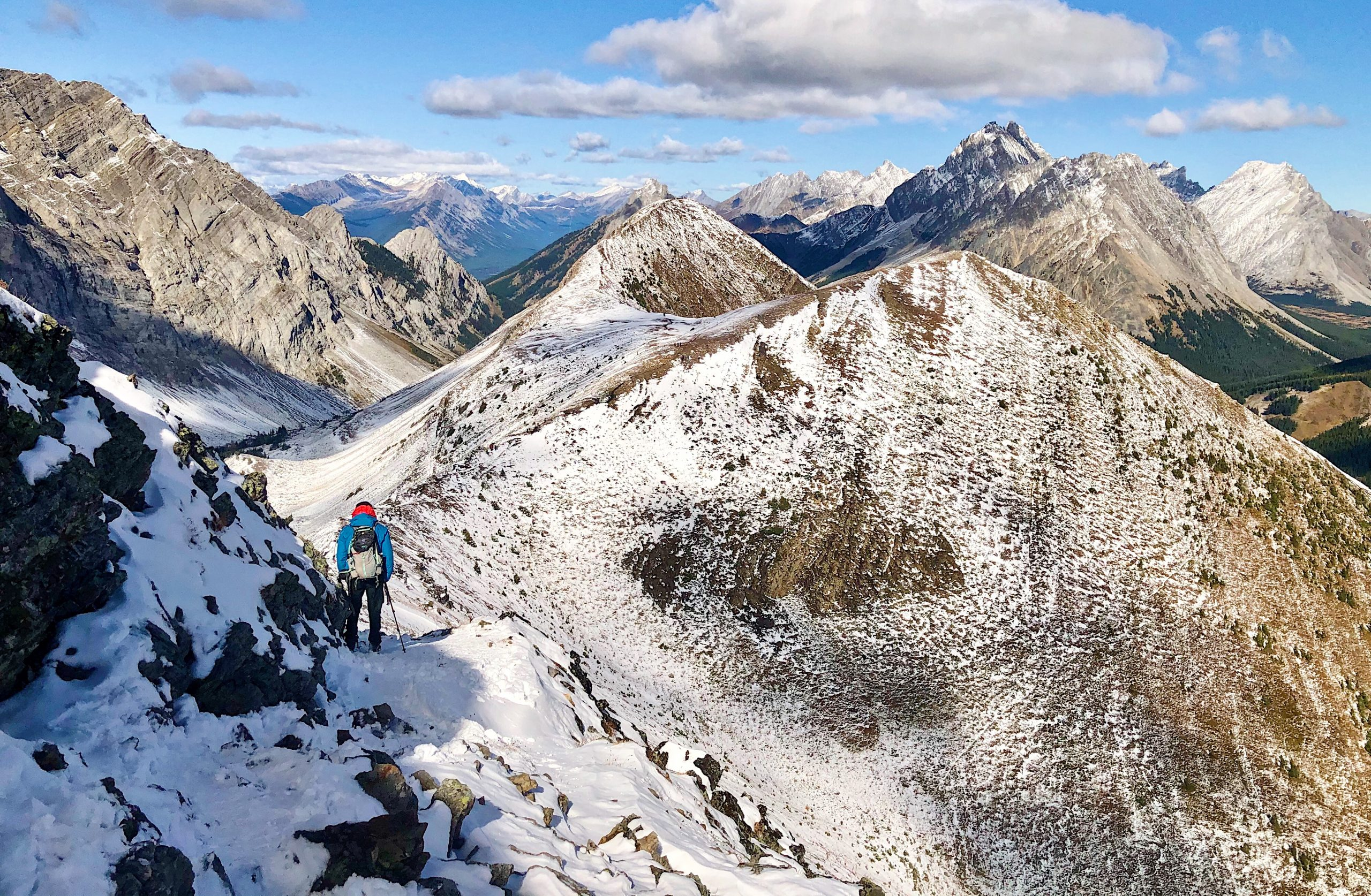 The Breathtaking Pocaterra Ridge Hike in Kananaskis (With Yellow Larches!) via @outandacross