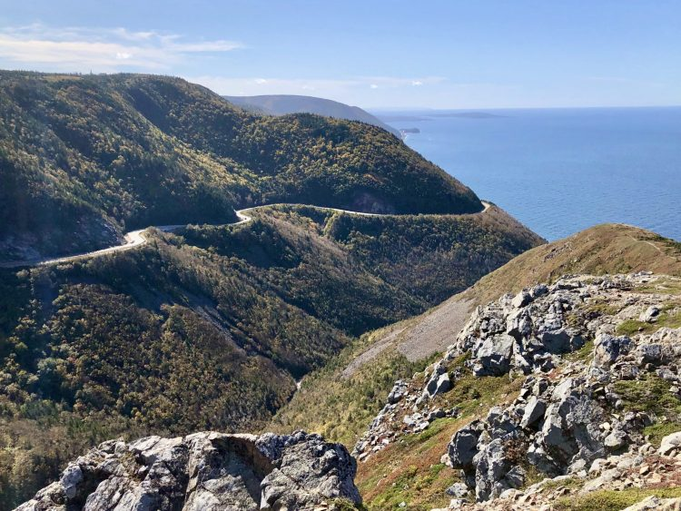 Incredible views while driving the Cabot Trail
