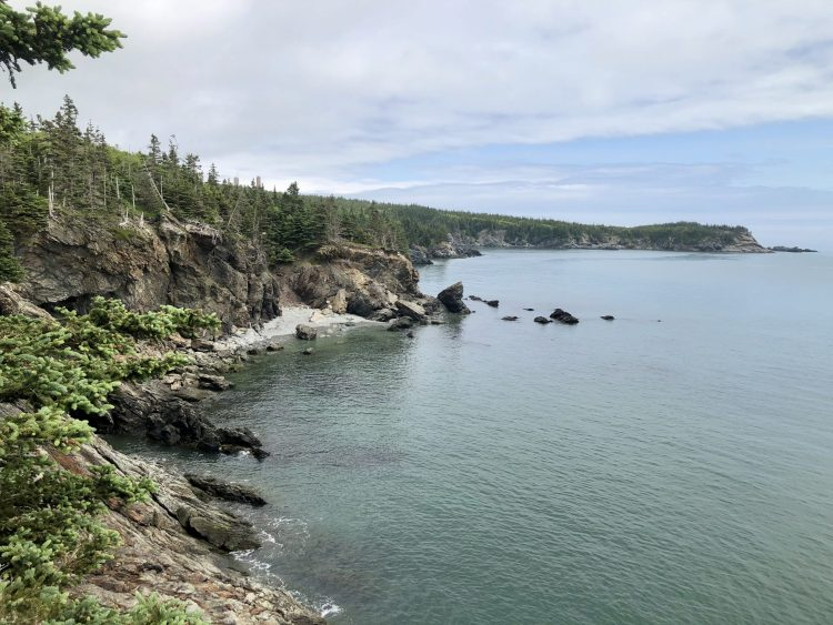 Bay of Fundy Coastline in New Brunswick, Canada