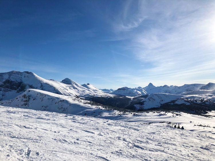 Banff ski trip mountain views