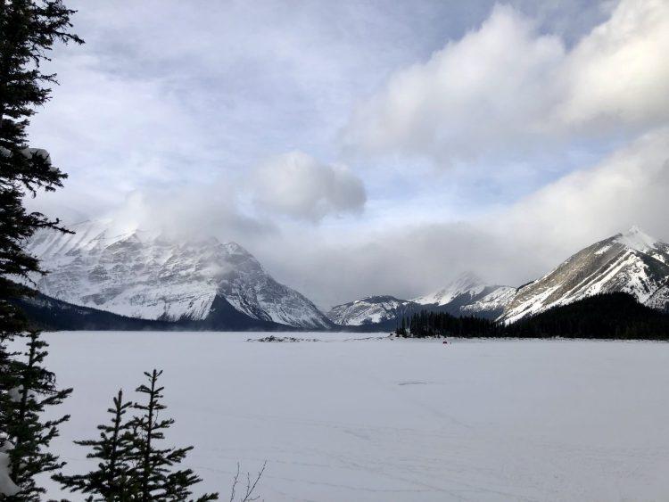 Frozen Upper Kananaskis Lake