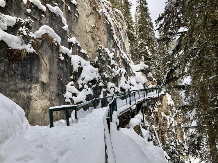 Johnston Canyon hike catwalk