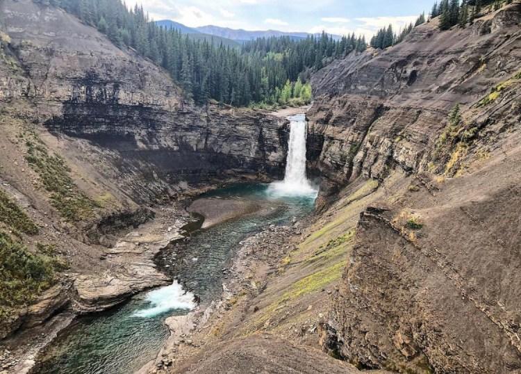Ram Falls is a waterfall in Alberta