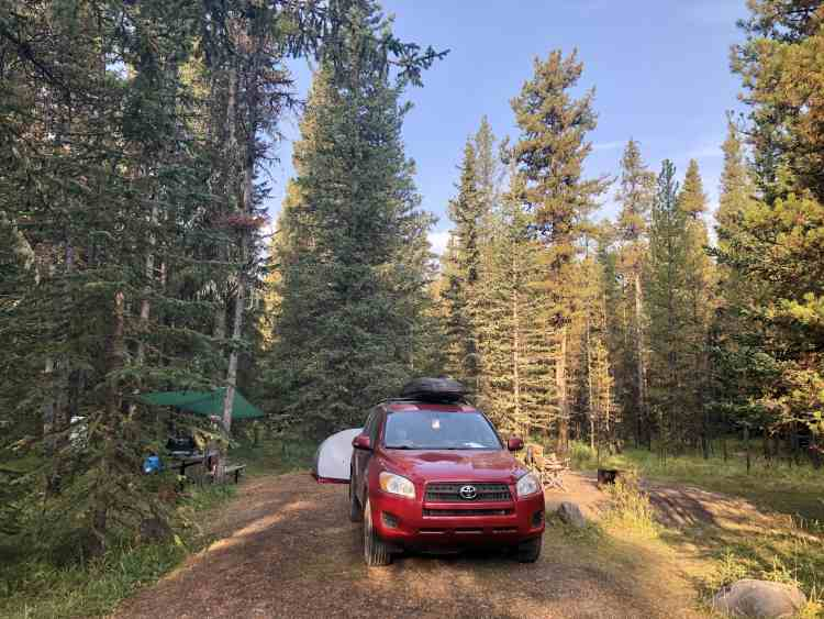 Ram Falls campground in September