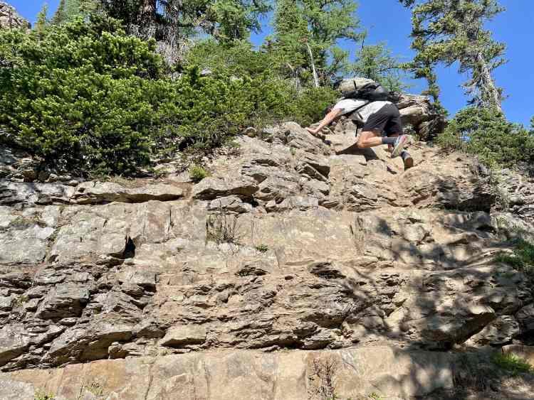 Devil's Thumb hike rock scramble