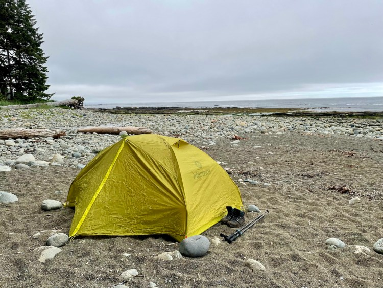 The West Coast Trail tenting sites