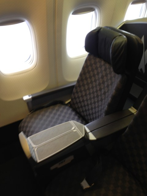 Seat 3J (sorry it's blurry)