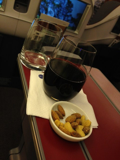 Wine and nuts (I drank the water)