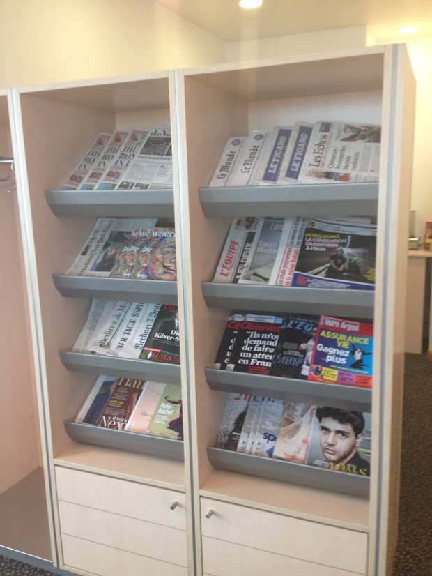 Free magazines and newspapers
