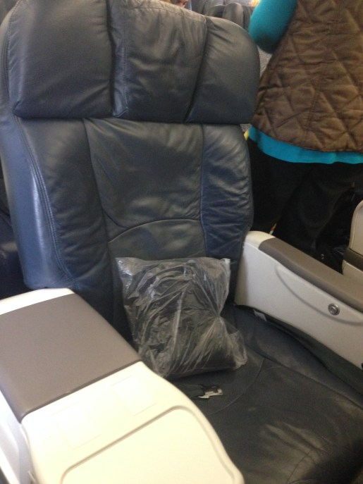 US Airways regional First Class seat