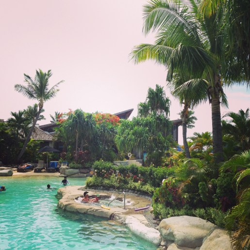 One of the pools at the Radisson Blu Fiji Resort