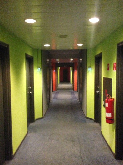 Hallways at the Park Inn Danube