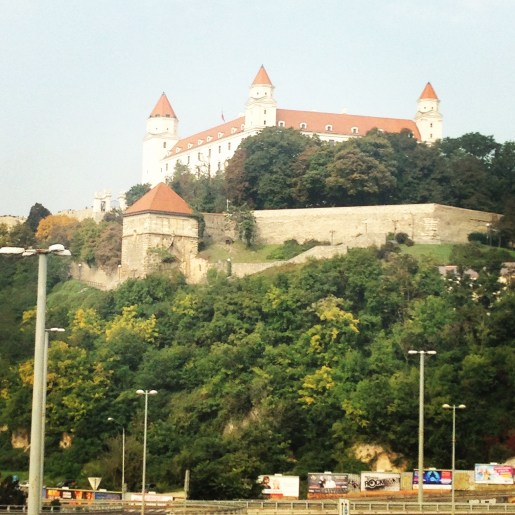 Hrad Castle just across the way