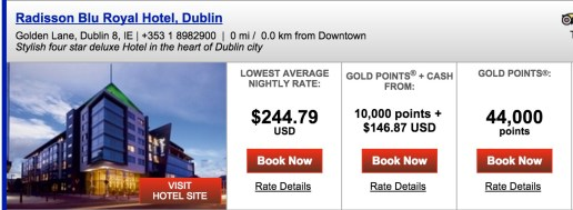 ~$490 for 2 nights in Dublin - this is my value