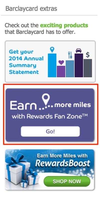 Barclays Arrival+ Rewards Fan Zone