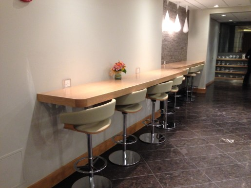 Row of barstools - good for typing out some emails (or blog posts!)