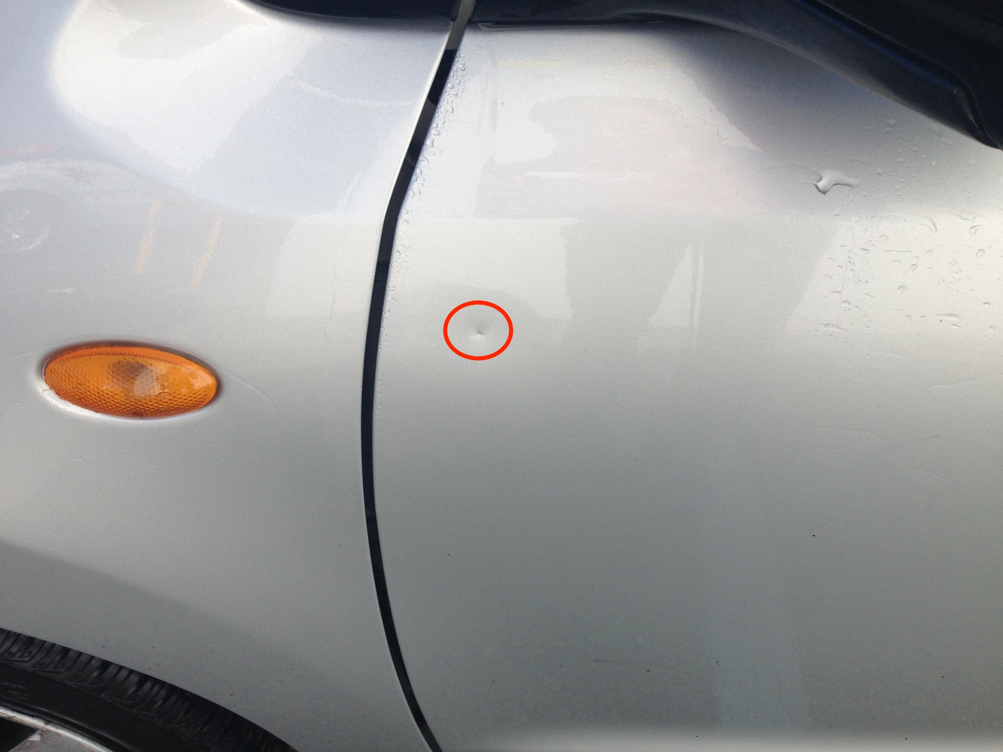 I Put A Dent In My Rental Car