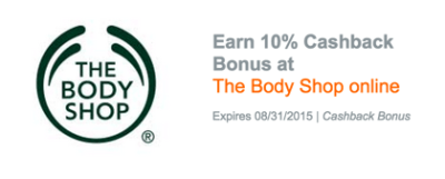 20% back at The Body Shop is the highest payout I've ever seen at this store