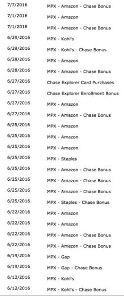 Chase Bonus!