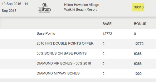 A shower of Hilton points