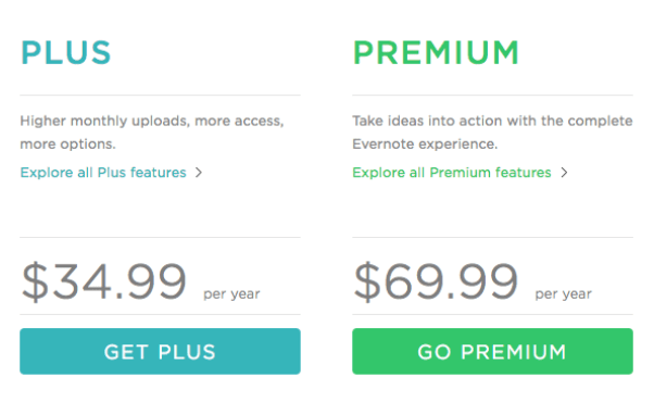Two subscription plans