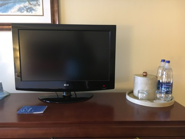 TV and bottled water