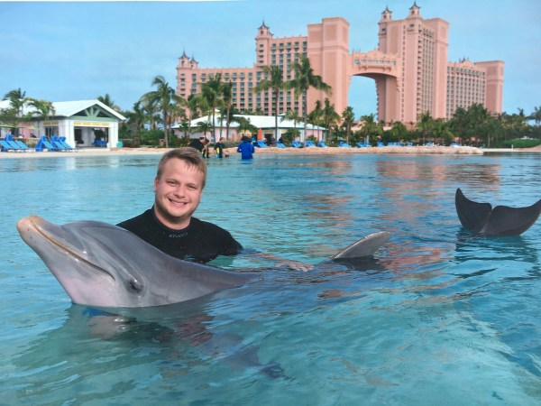 Jay with the dolphin