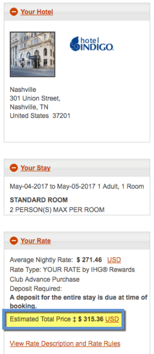The Hotel Indigo in Nashville costs more per night than the one in New York. What?!