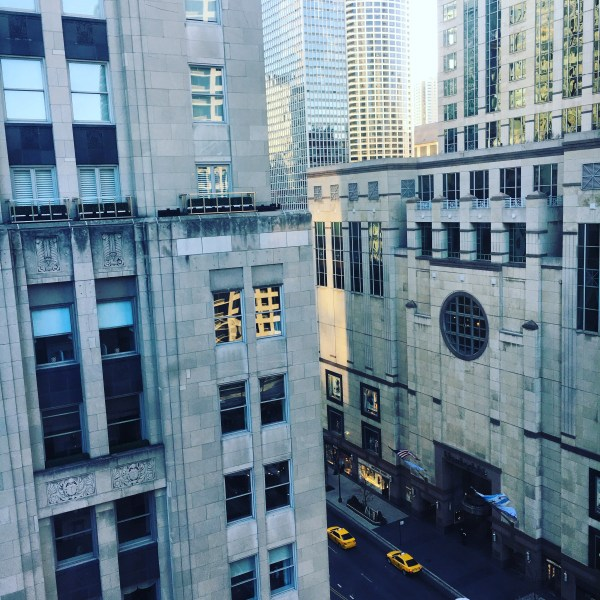 View of Michigan Avenue from my window