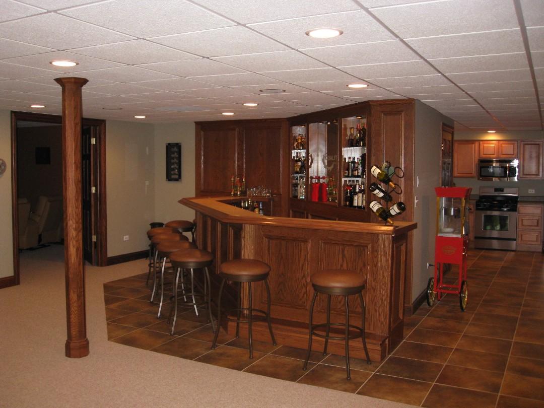 Custom Built Bars and Finished Basements, Basement