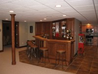 Custom Built Bars and Finished Basements, Basement
