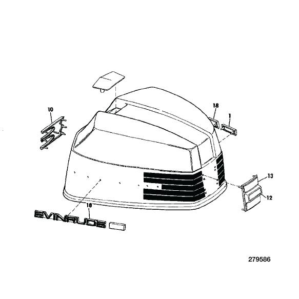 1973 Evinrude 85 hp Starflite V4 decal set 0279557, 0279522