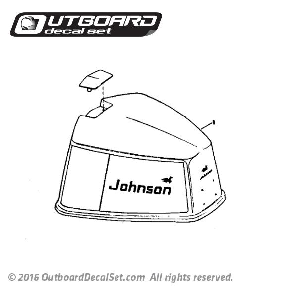 1976 Johnson 85 hp Javelin decal set 0387638 0387639