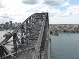 Harbour Bridge Pylon looking over Harbour Bridge